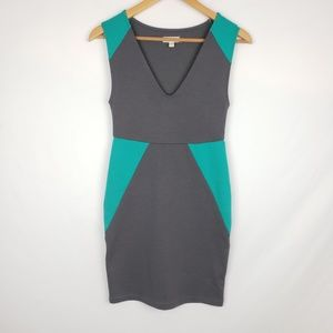 UO silence and noise green and gray bodycon dress